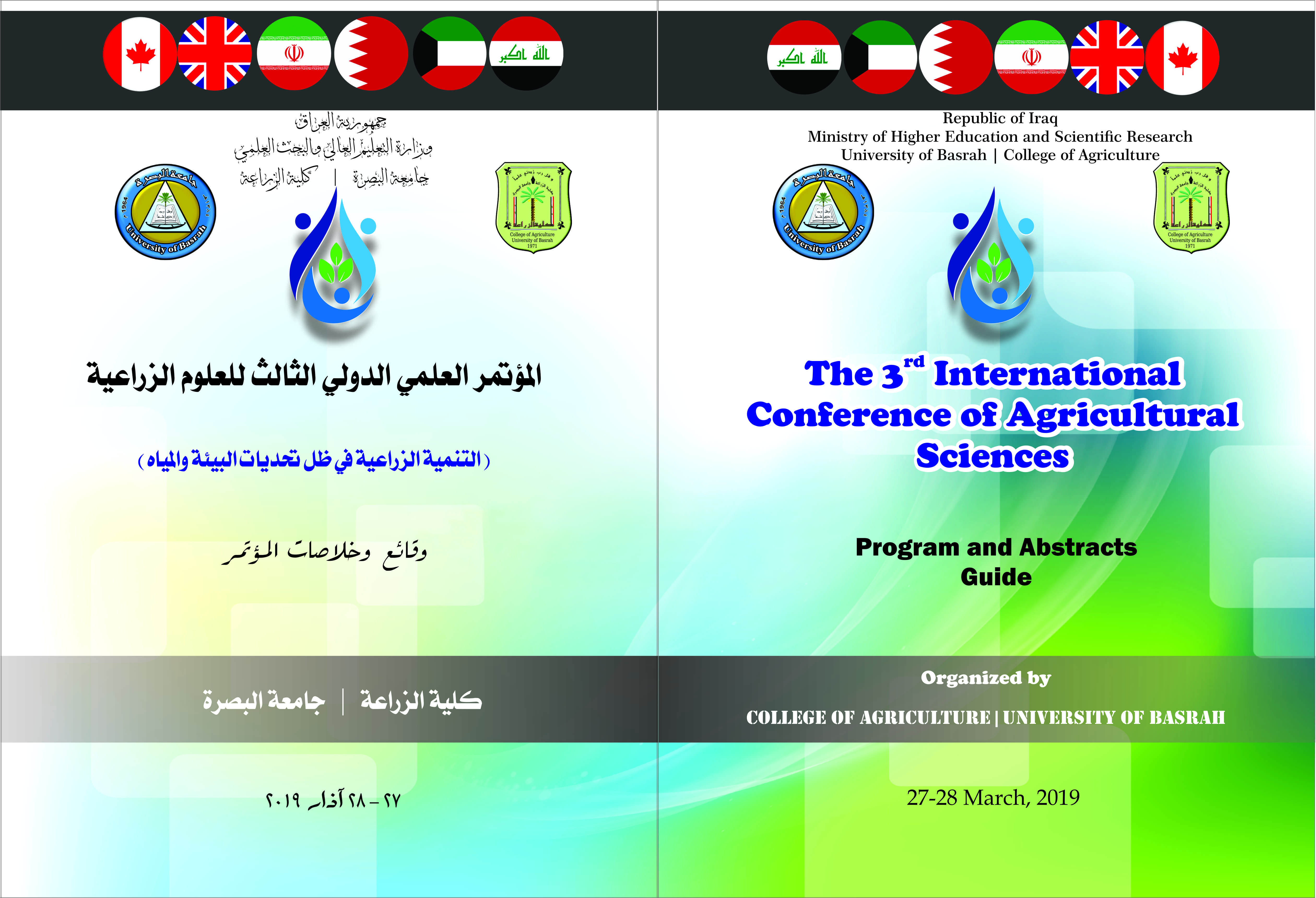 The 3rd International Conference of Agricultural Sciences 27-28 March, 2019